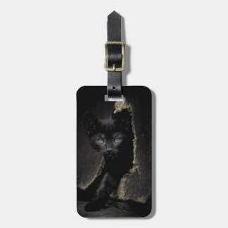 Little Black Kitty Luggage Tag