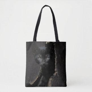 Little Black Kitty Tote Bag