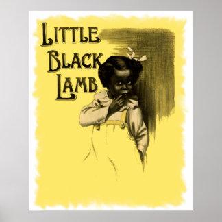 Little Black Lamb Vintage Black Americana Print