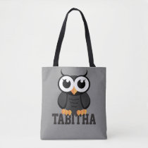 """Little Black Owl"" Tote Bag"