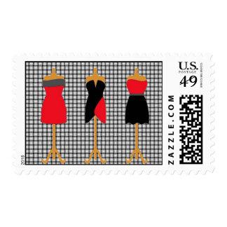 Little Black/Red Dresses Postage