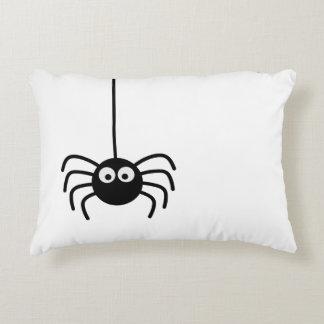 Little black spider accent pillow