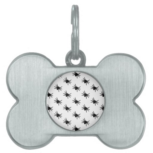 Little Black Spiders Pet Name Tag