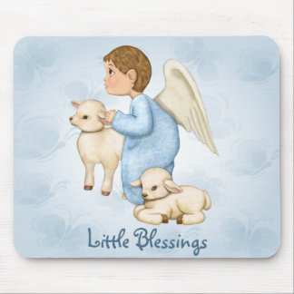 Little Blessings Angel Boy Mouse Pad