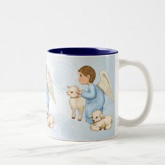 Little Blessings Angel Boy Two-Tone Coffee Mug