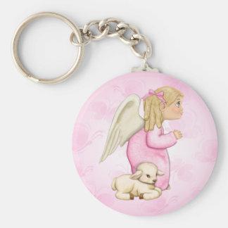 Little Blessings Angel Girl Keychain
