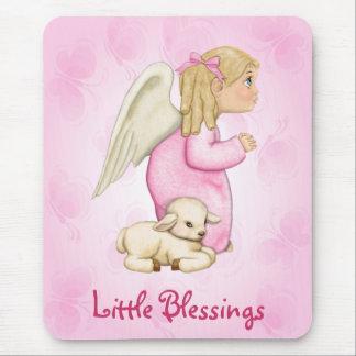 Little Blessings Angel Girl Mouse Pad