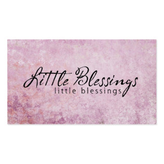 Little Blessings on PInk diamond Background Business Cards
