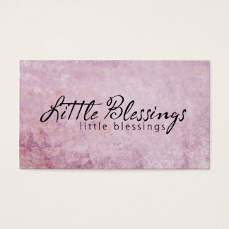 Little Blessings on PInk diamond Background Business Card