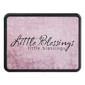 Little Blessings on PInk diamond Background Hitch Cover