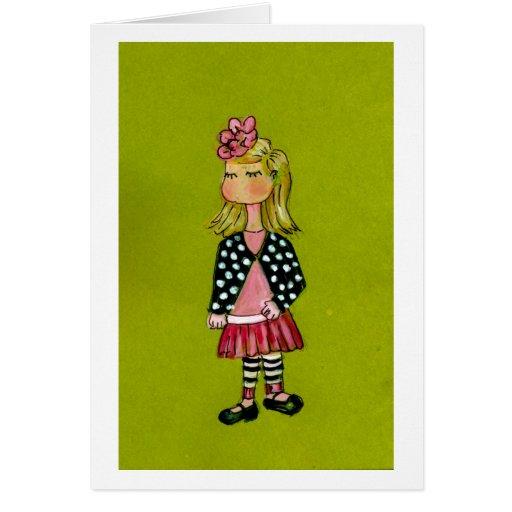 Little Blonde Girl Card