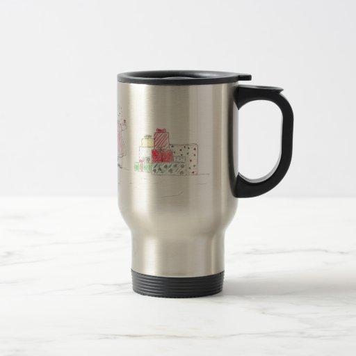 Little Blonde Girl with Presents Coffee Mug