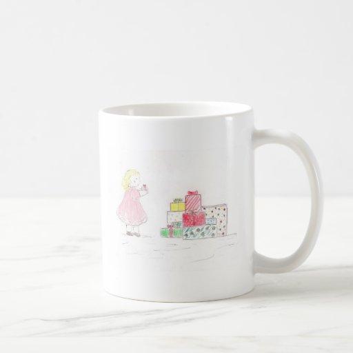 Little Blonde Girl with Presents Mug