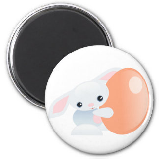 Little Blue Baby Bunny - The Tender 2 Inch Round Magnet