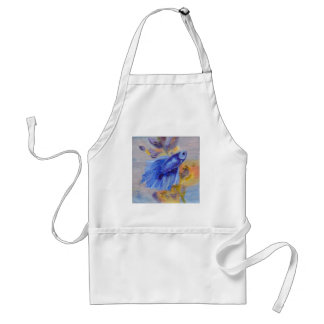 Little Blue Betta Fish Adult Apron