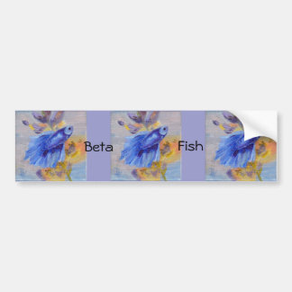 Little Blue Betta Fish Bumper Sticker