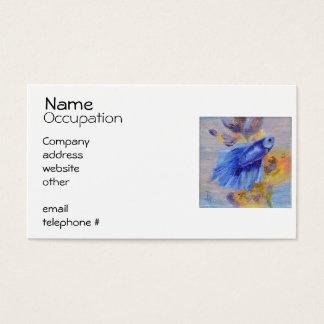 Little Blue Betta Fish Business Card