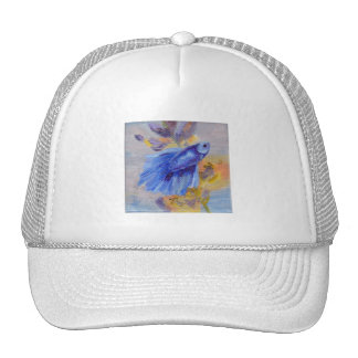 Little Blue Betta Fish Trucker Hat