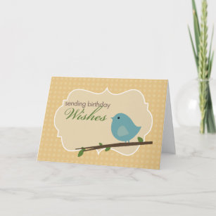 Bluebird birthday cards zazzle little blue bird birthday card m4hsunfo