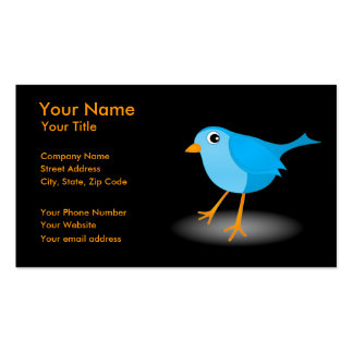 Little Blue Bird Black Profile or Business Cards Business Cards