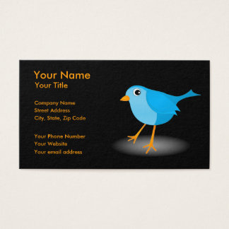 Little Blue Bird Black Profile or Business Cards