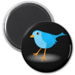 Little Blue Bird Cute Classic Custom Round Magnets