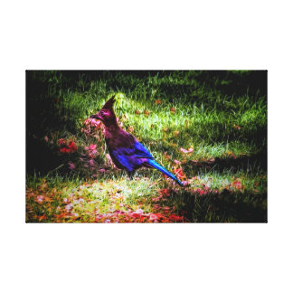 Little blue bird, wrapped canvis pring canvas print