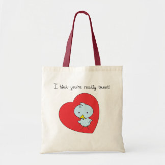 Little Blue Birdie Tote Bag