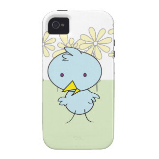 """Little Blue Birdie """"Tough"""" IPhone Case Case For The iPhone 4"""