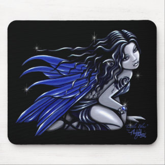 """Little Blue"" Blue Tattooed Fairy Mousepad"