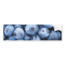 Little Blue Blueberries - Fruit Print Bumper Sticker