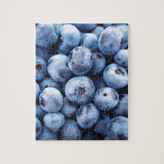 Little Blue Blueberries - Fruit Print Jigsaw Puzzle