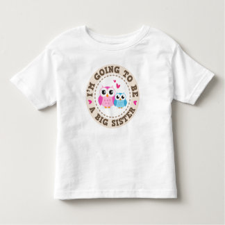 Little blue brother owl Im going to be big sister Tshirts