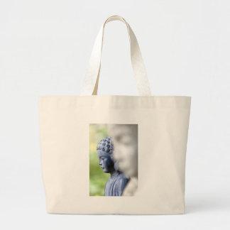 Little Blue Buddha Large Tote Bag