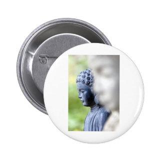 Little Blue Buddha Pinback Button