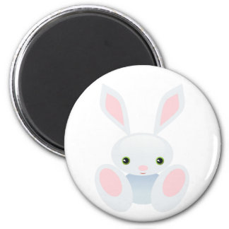 Little Blue Bunny 2 Inch Round Magnet