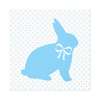 """""""Little Blue Bunny"""" Wrapped Canvas"""