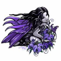 fairy, blue, flowers, gothic, fantasy, faerie, faery, fae, fairies, art, myka, jelina, tattoo, butterfly, faeries, Photo Sculpture with custom graphic design