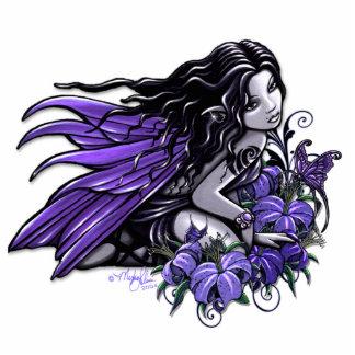 """""""Little Blue"""" Butterfly Flower Fairy Sculpture"""
