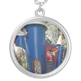 Little Blue Castle Necklace