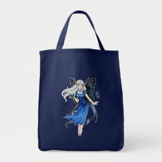 Little Blue Diadem grocery tote Canvas Bag