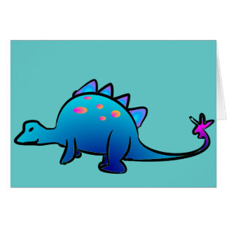 Little Blue DIno Greeting Cards