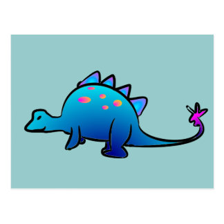 Little Blue DIno Postcard