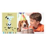 Little Blue Dog Photo Card