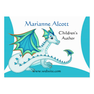 Little Blue Dragon Profile Card Large Business Cards (Pack Of 100)