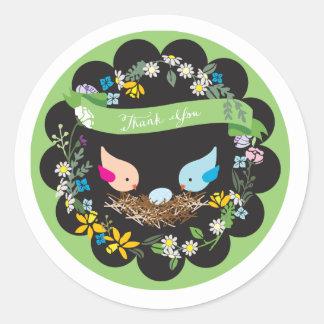 Little Blue Egg   Baby Shower Favor Sticker