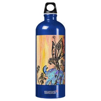 Little Blue Elephant Aluminum Water Bottle