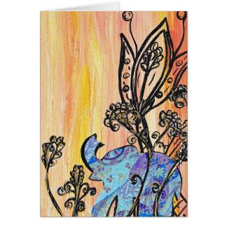Little Blue Elephant Card