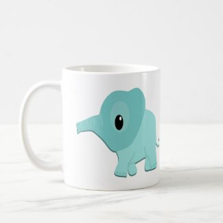 Little Blue Elephant Coffee Mug
