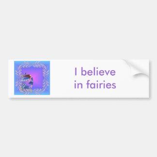 Little blue fairy bumper stickers
